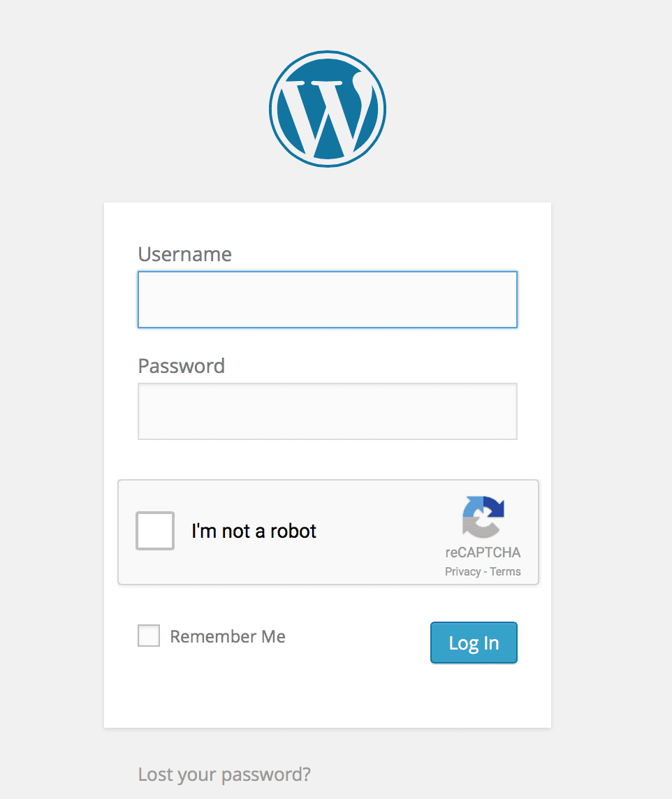 WordPress simple login