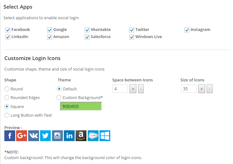 WordPress social login apps