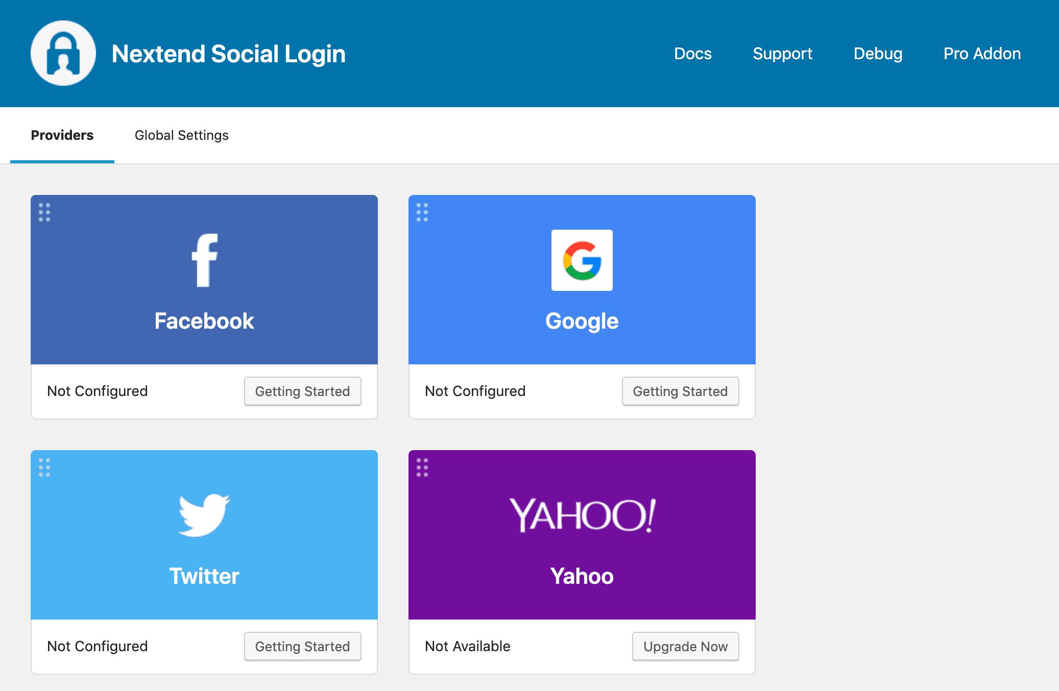 Nextend Social Login providers