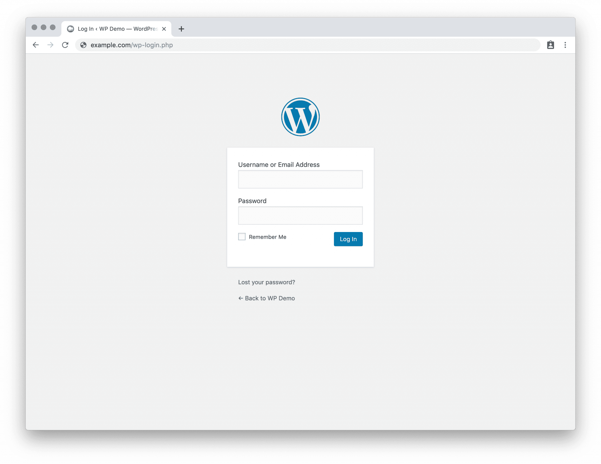 wordpress website login