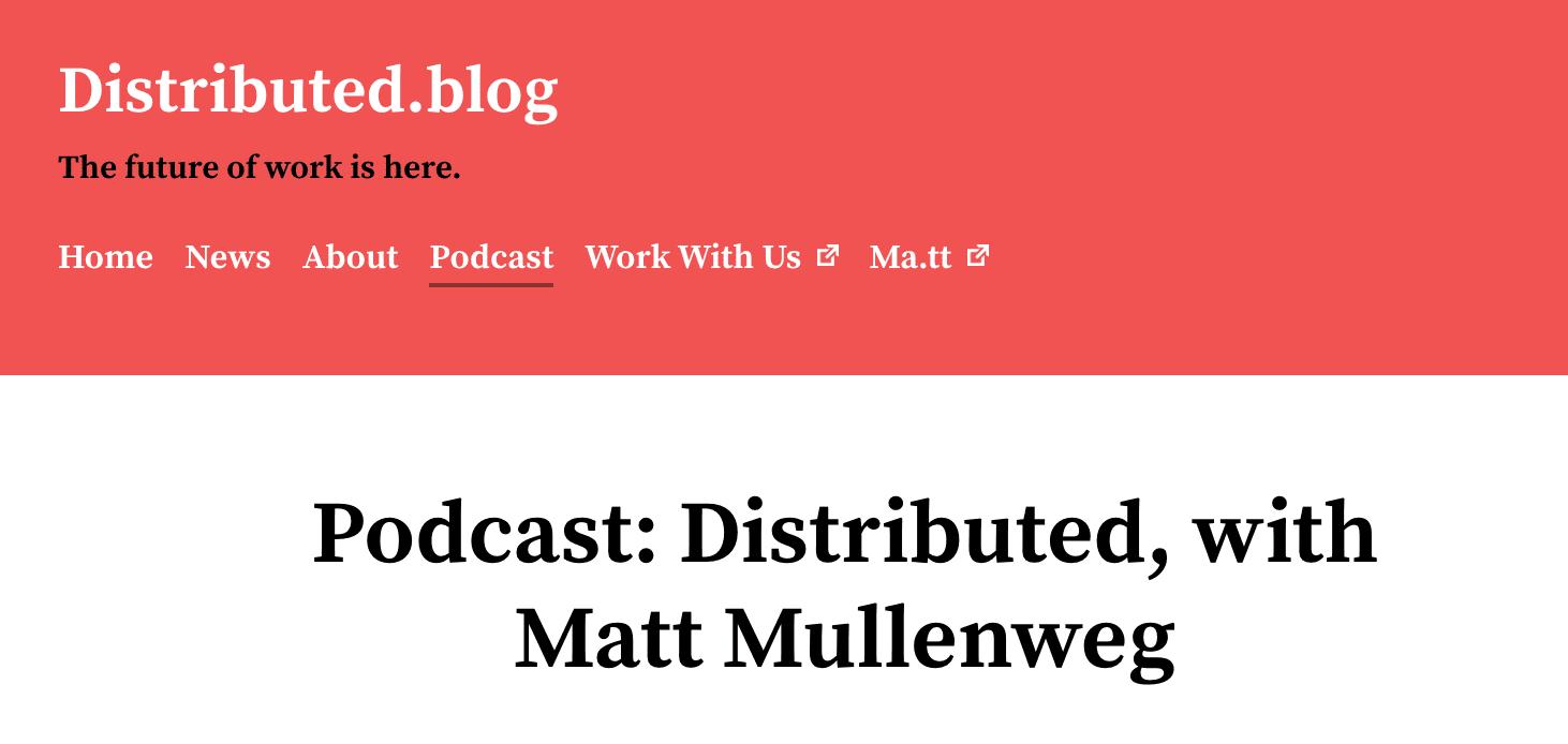 Distributed blog WordPress