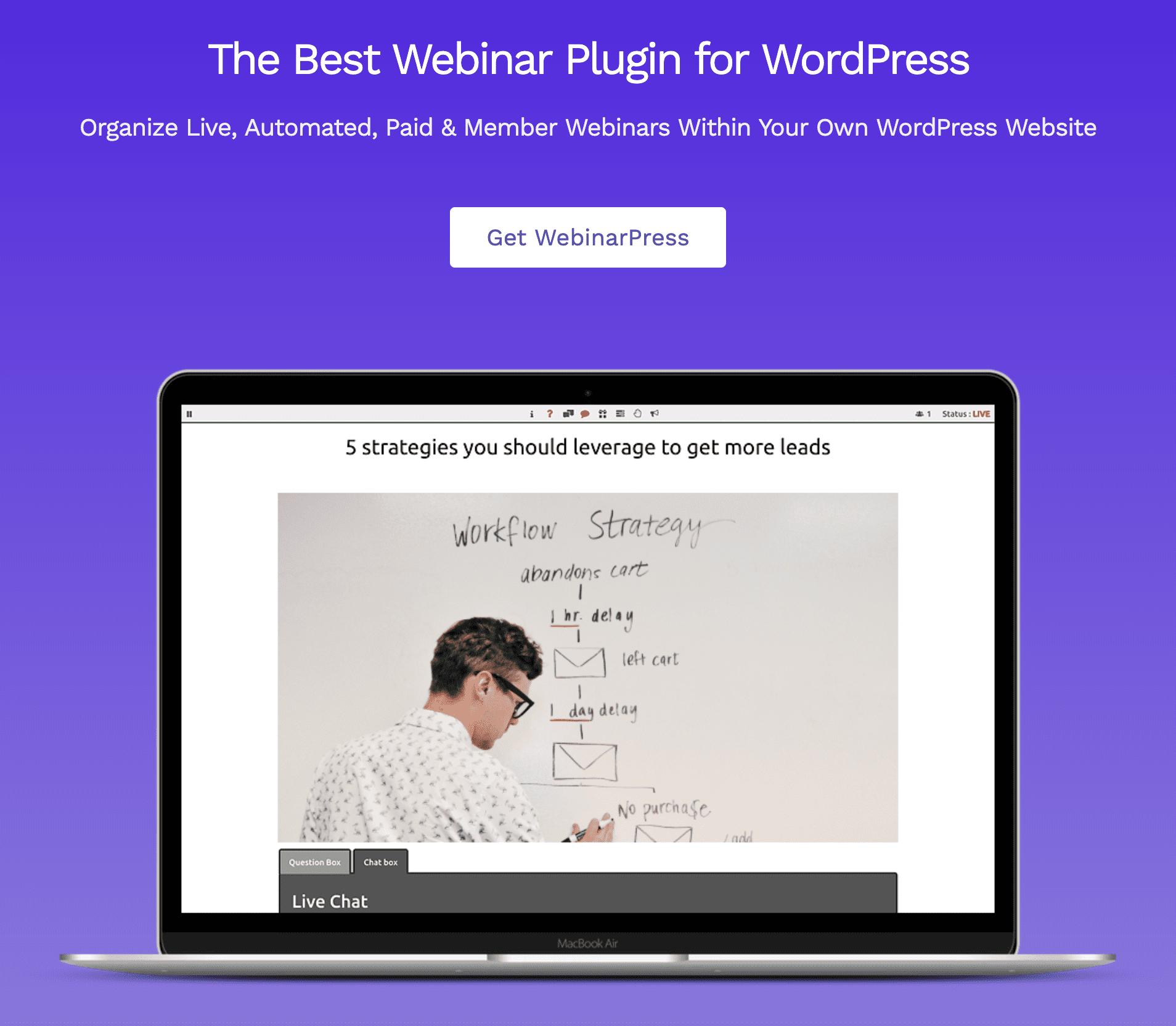 webinar press plugin