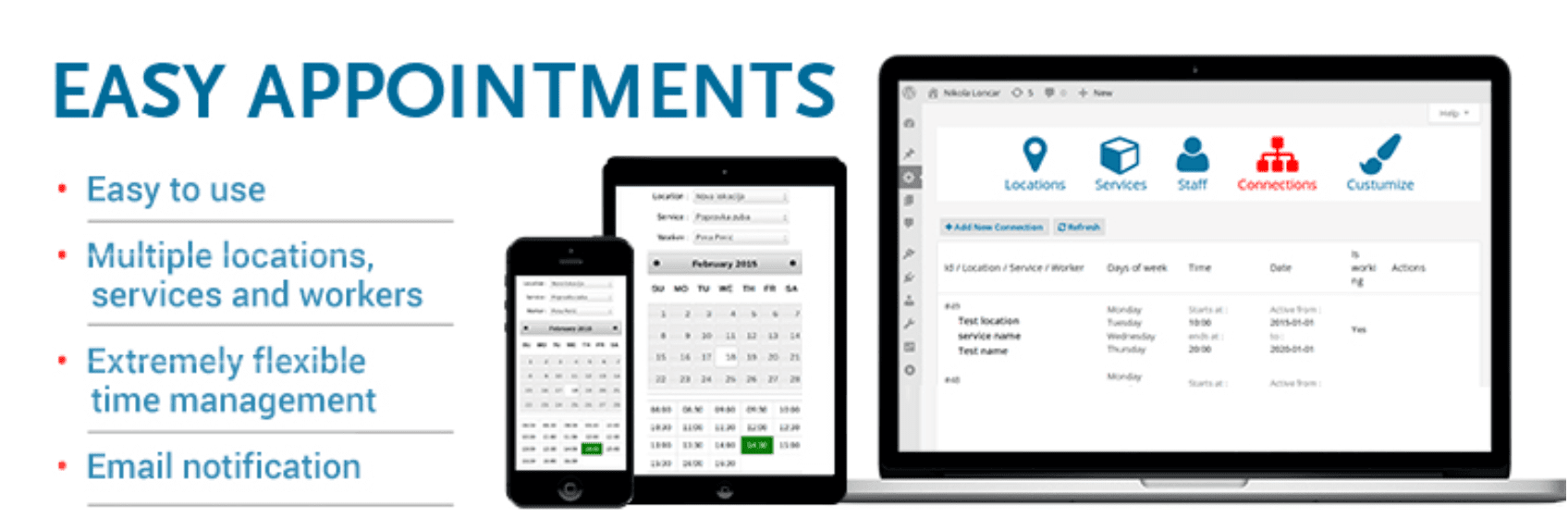 The Easy Appointments plugin.