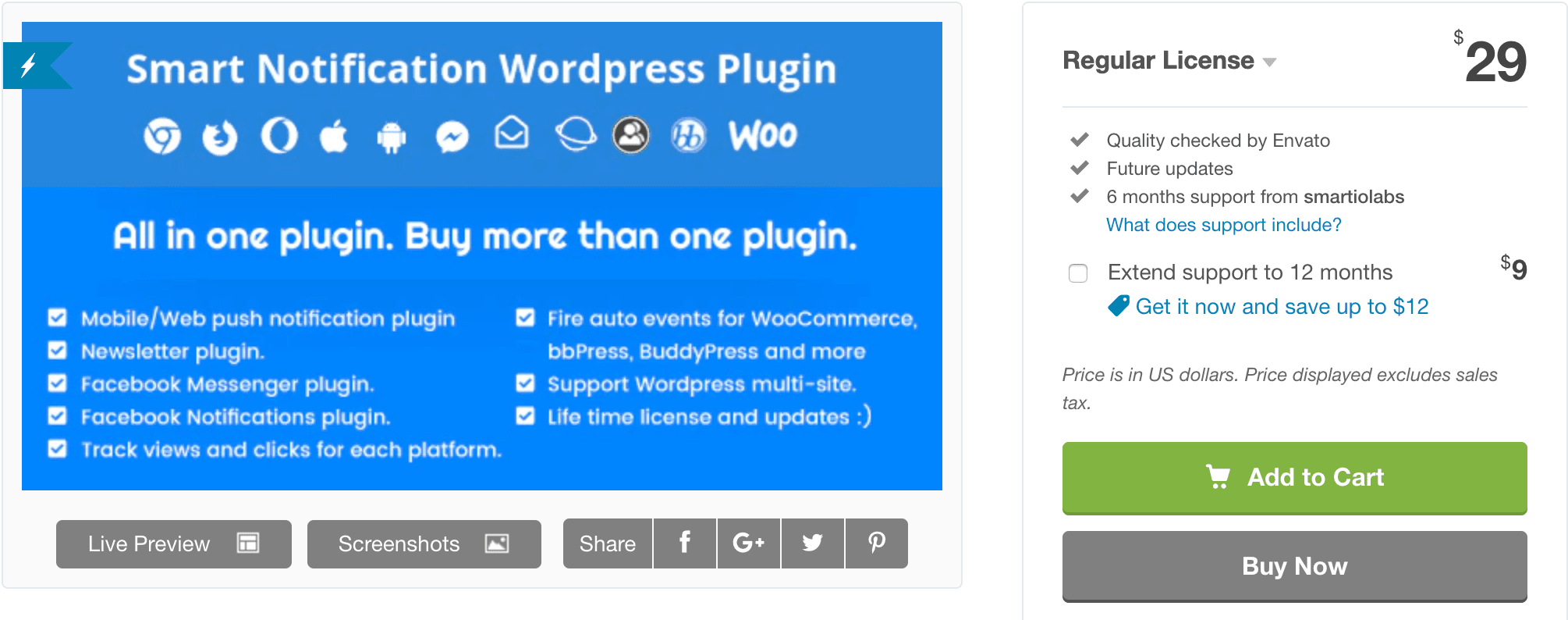 The Smart Notification WordPress Plugin.