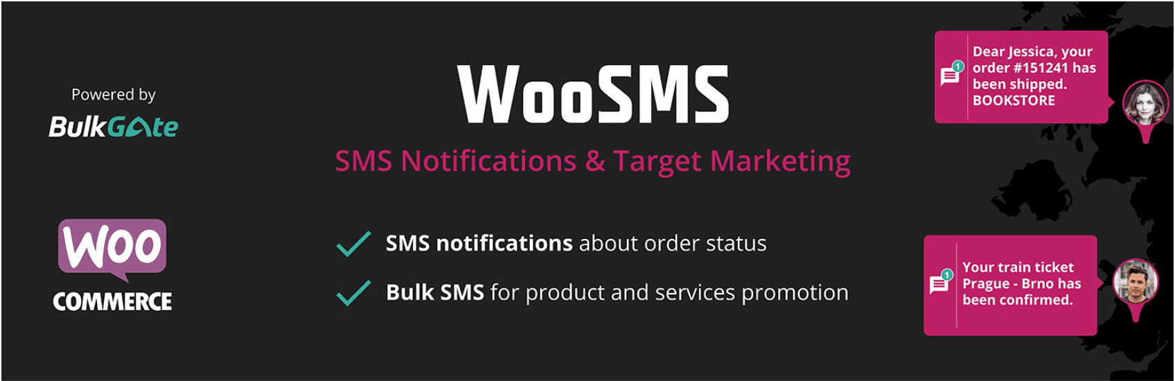 The WooSMS plugin.