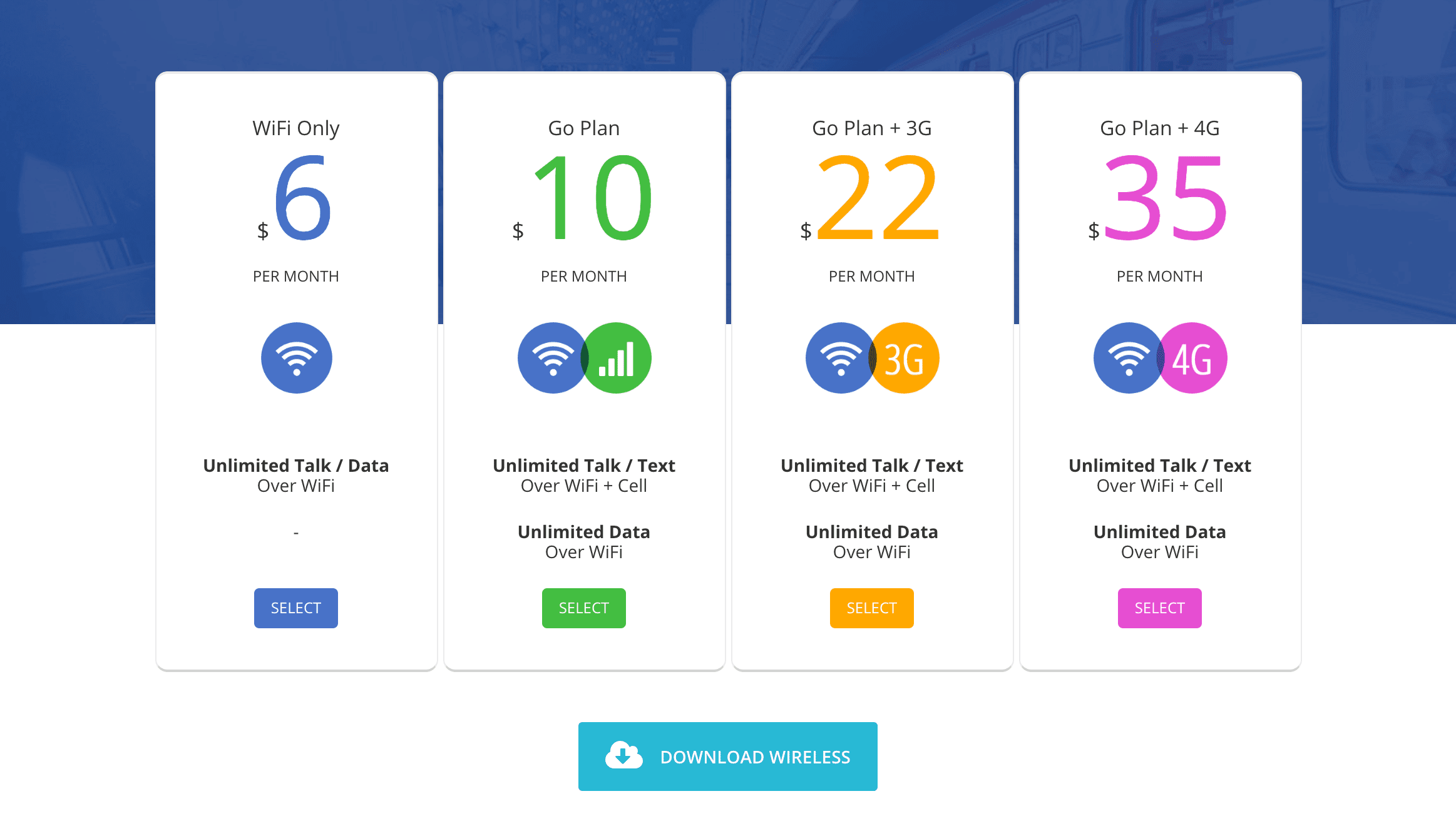 A pricing table created with the Go Pricing plugin.
