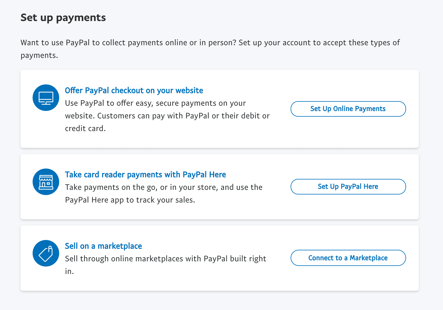 Set up PayPal payments