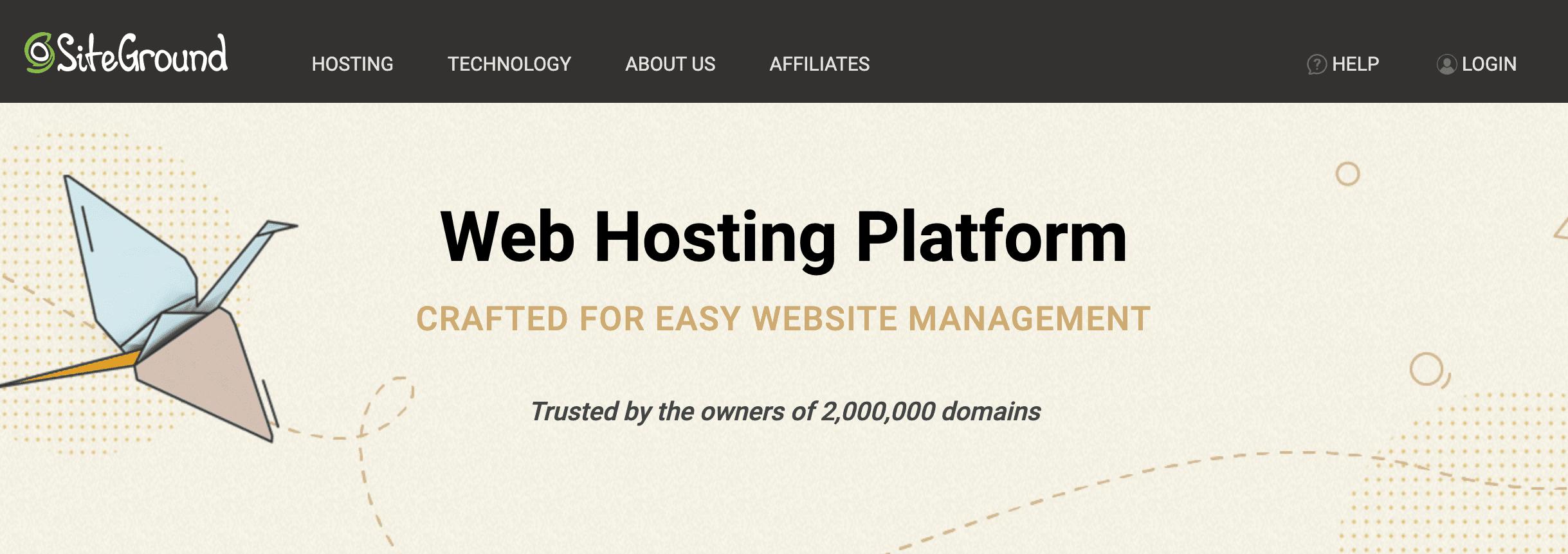 WordPress staging site.
