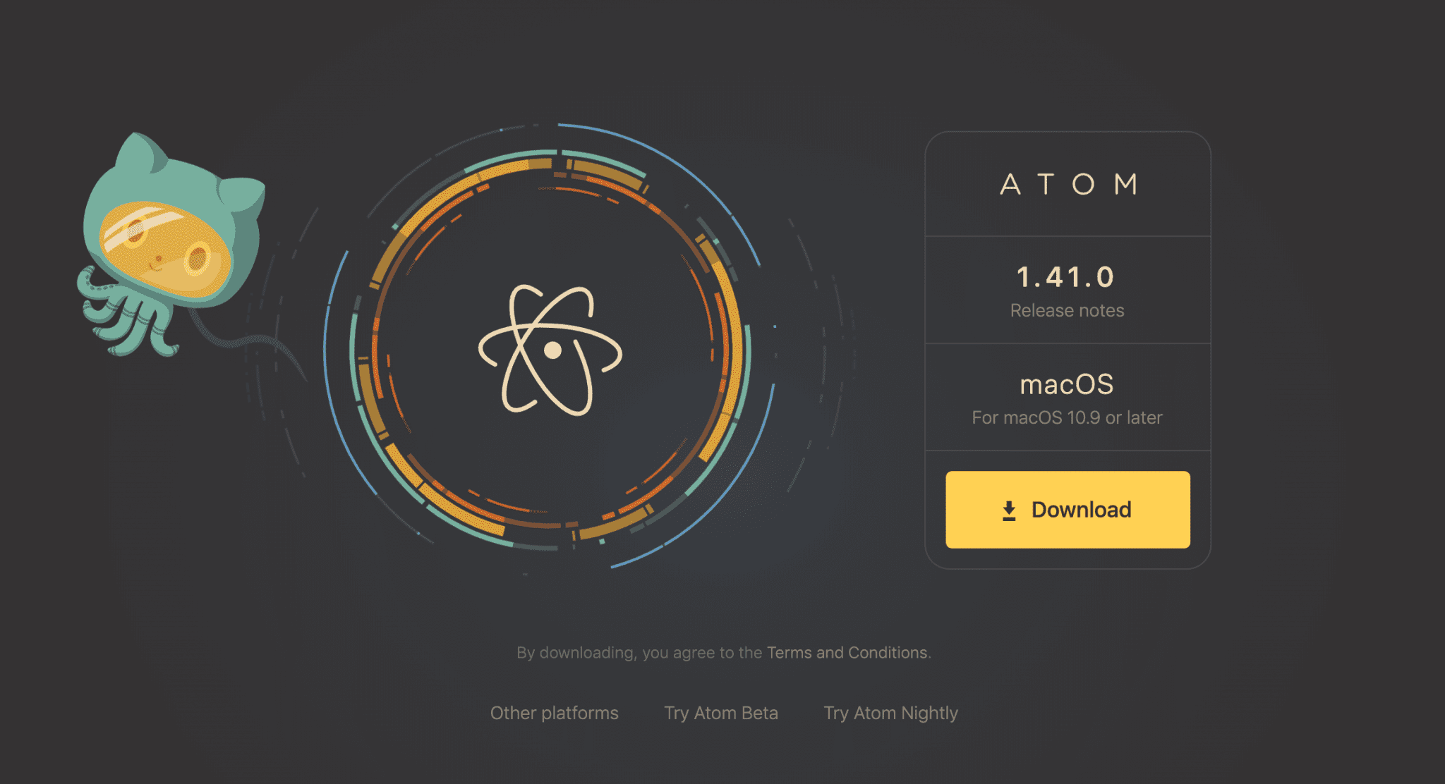 The Atom code editor by GitHub.