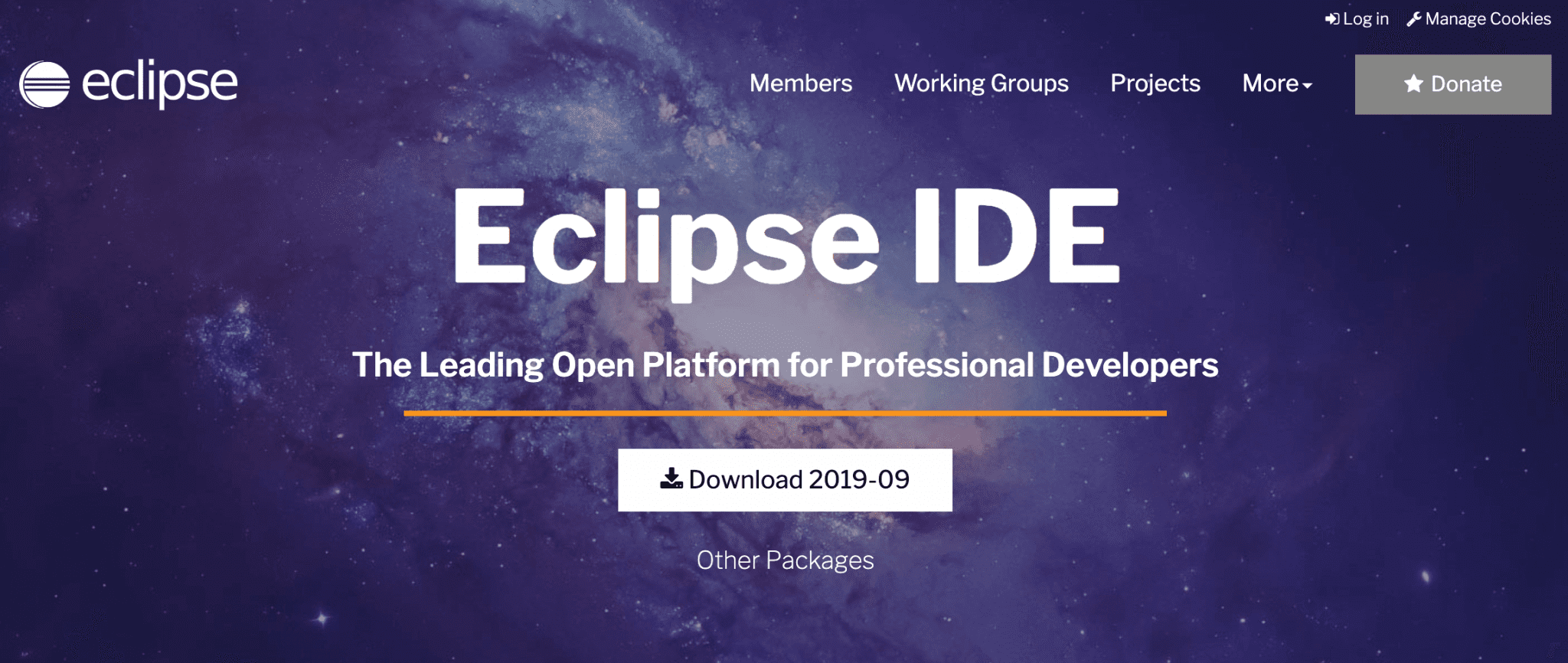 The Eclipse IDE.