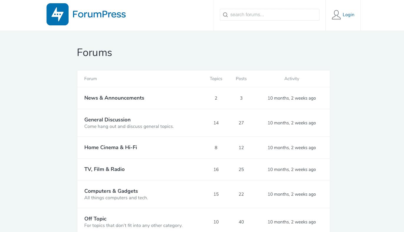 forumpress forums