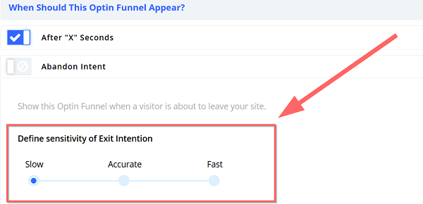 exit intent popups