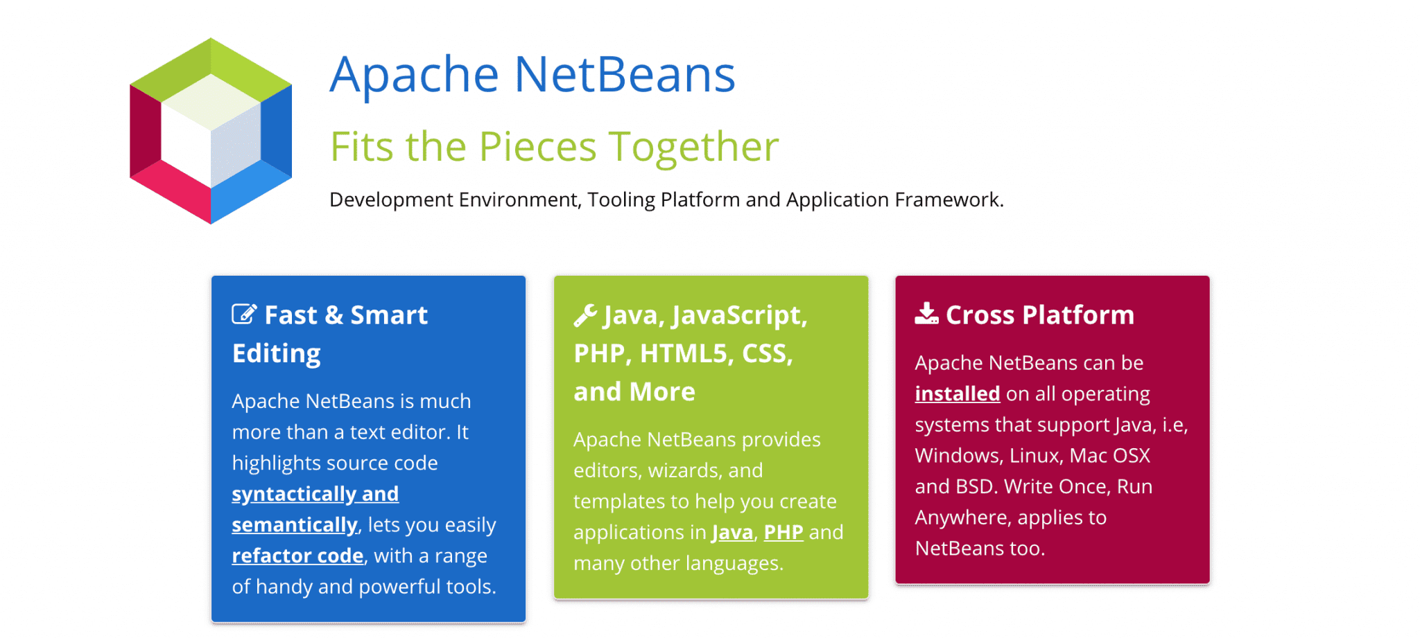 The NetBeans IDE by Apache.