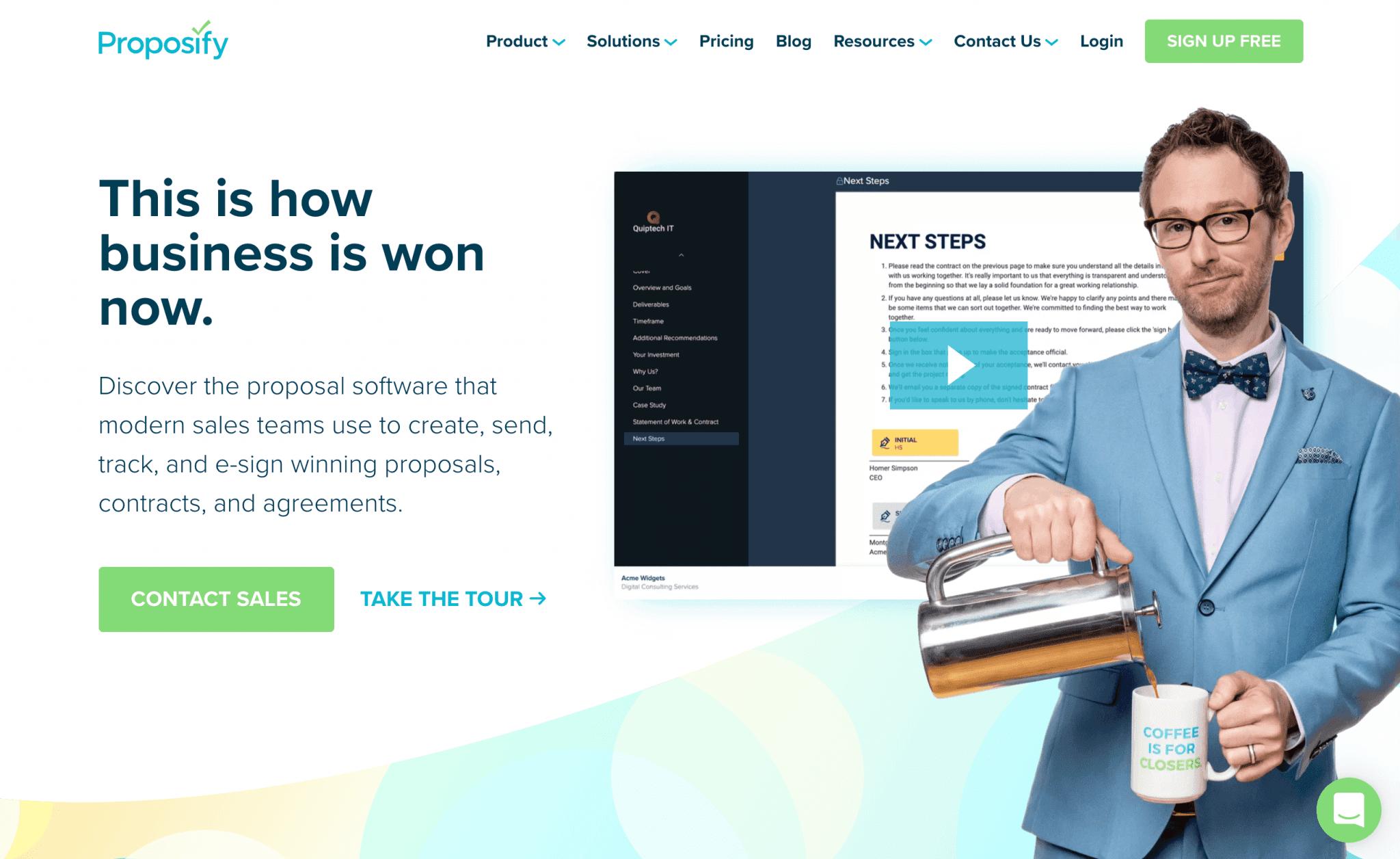 WordPress website development proposal.