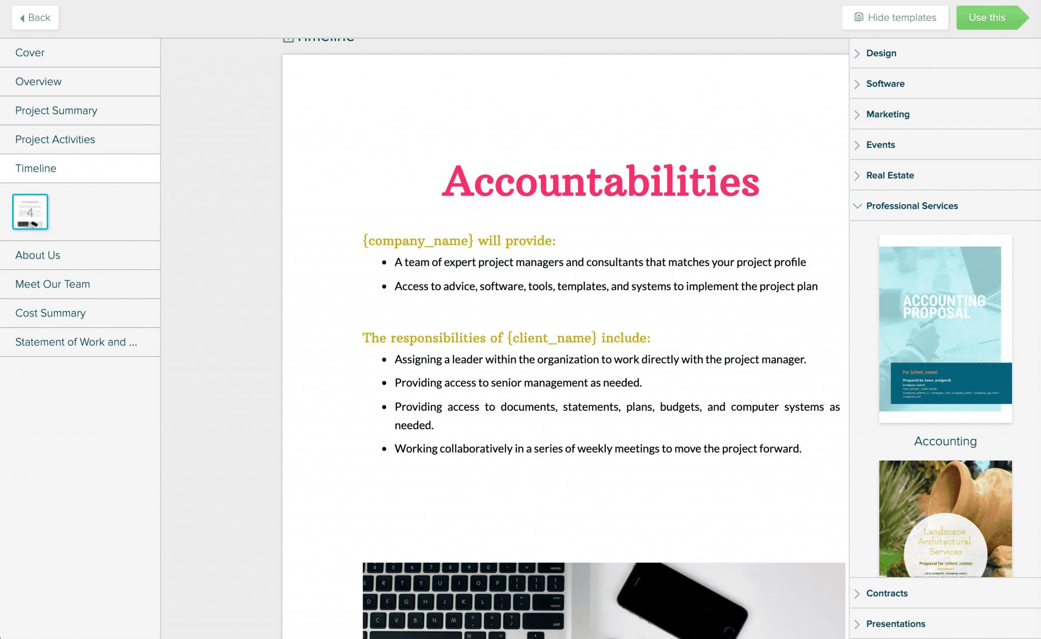 WordPress website proposal pdf.