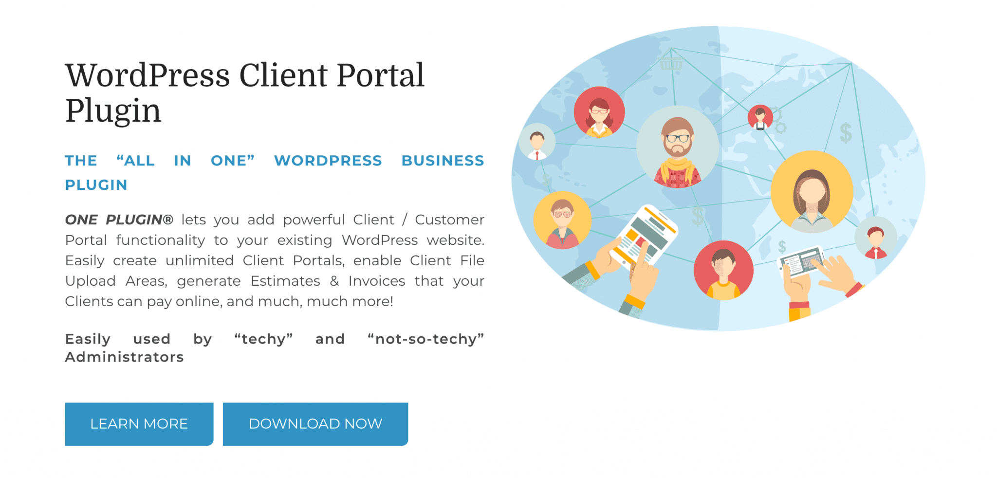 The Wp-Client plugin homepage.