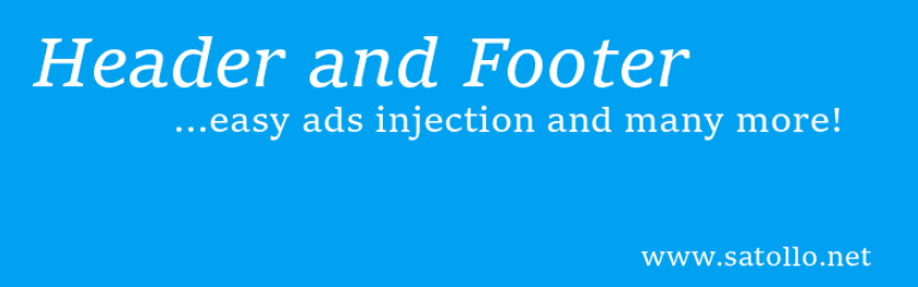The Header, Footer, and Post Injections WordPress plugin.