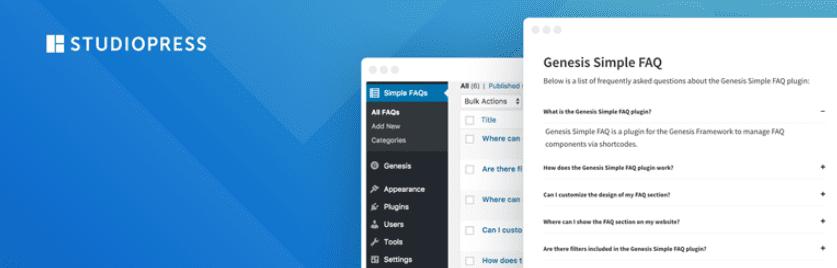 The Genesis Simple FAQ WordPress plugin.