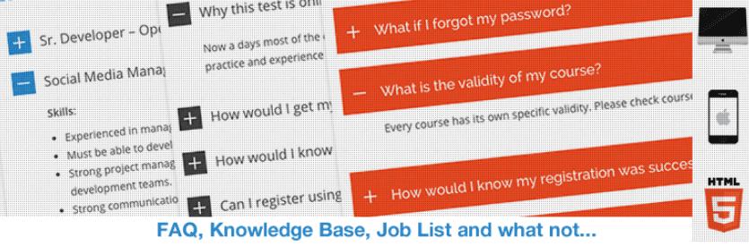 The HTML5 Responsive FAQ WordPress plugin.