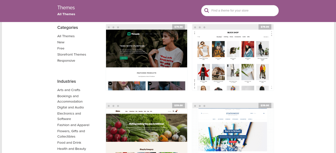 The WooCommerce Theme Store.