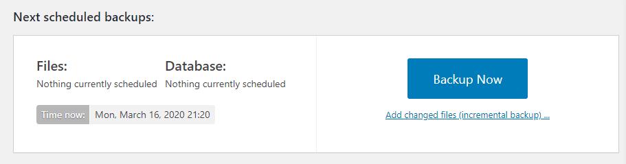 Creating an on-demand backup.