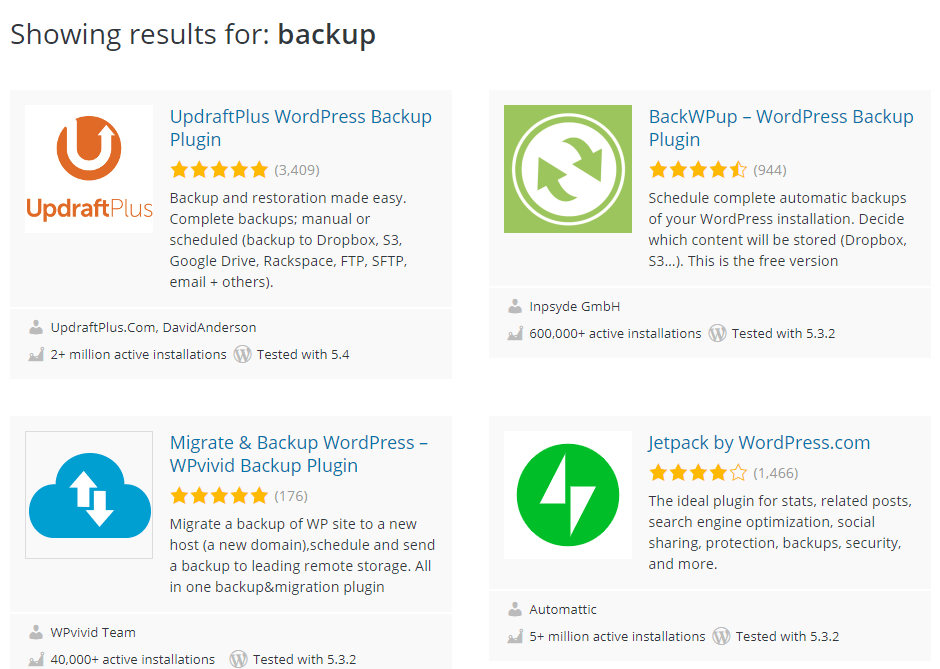 Why back up WordPress?