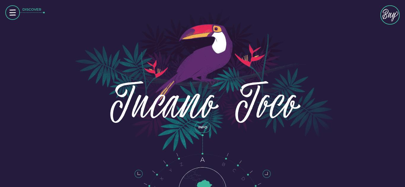 The Amazonia Font WordPress website.