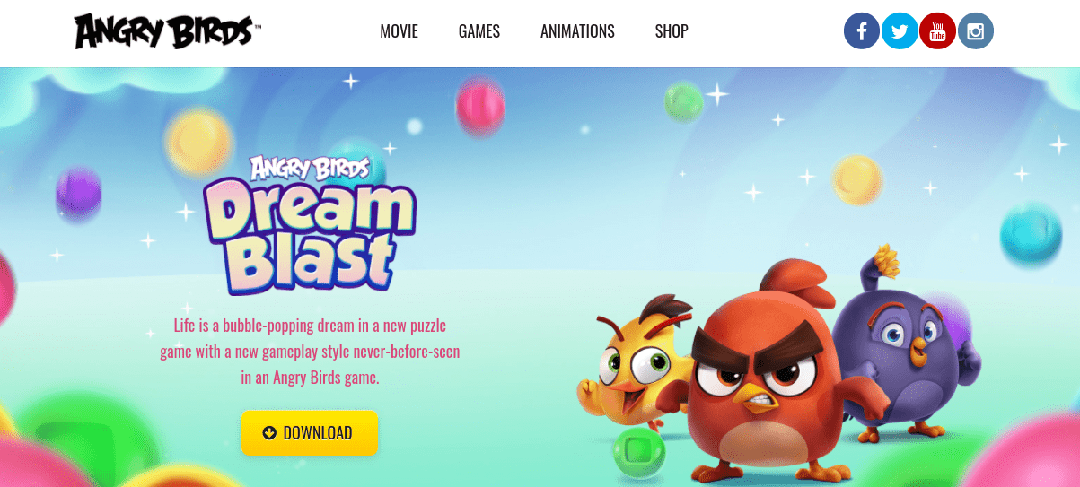 The Angry Birds website.