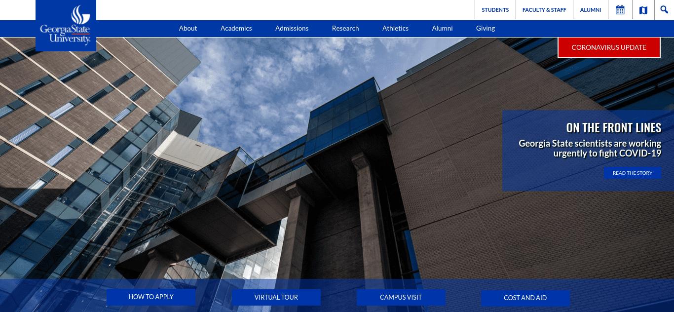 The Georgia State University website.