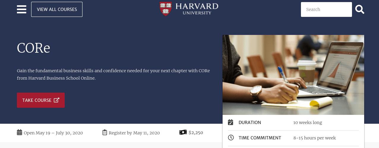 A Harvard University online course.