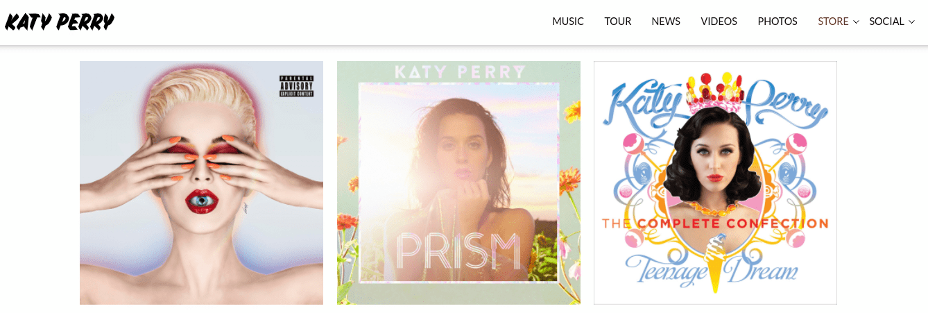 The Katy Perry website.