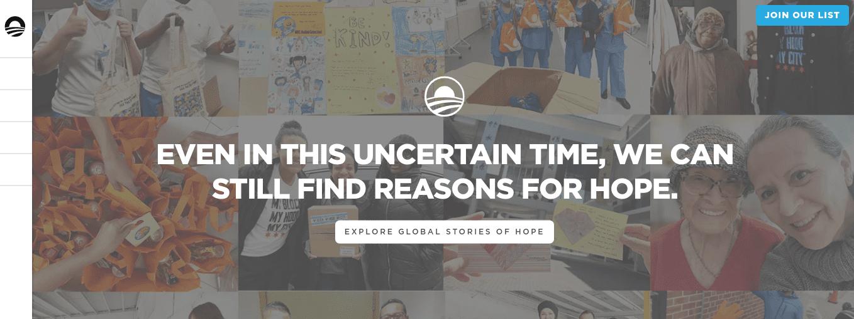 The Obama Foundation WordPress website.