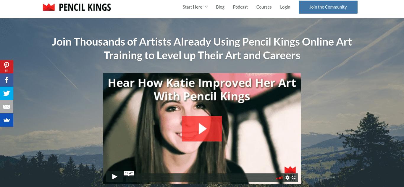The Pencil Kings membership website.