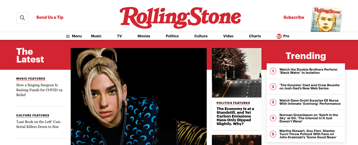 The Rolling Stone website.