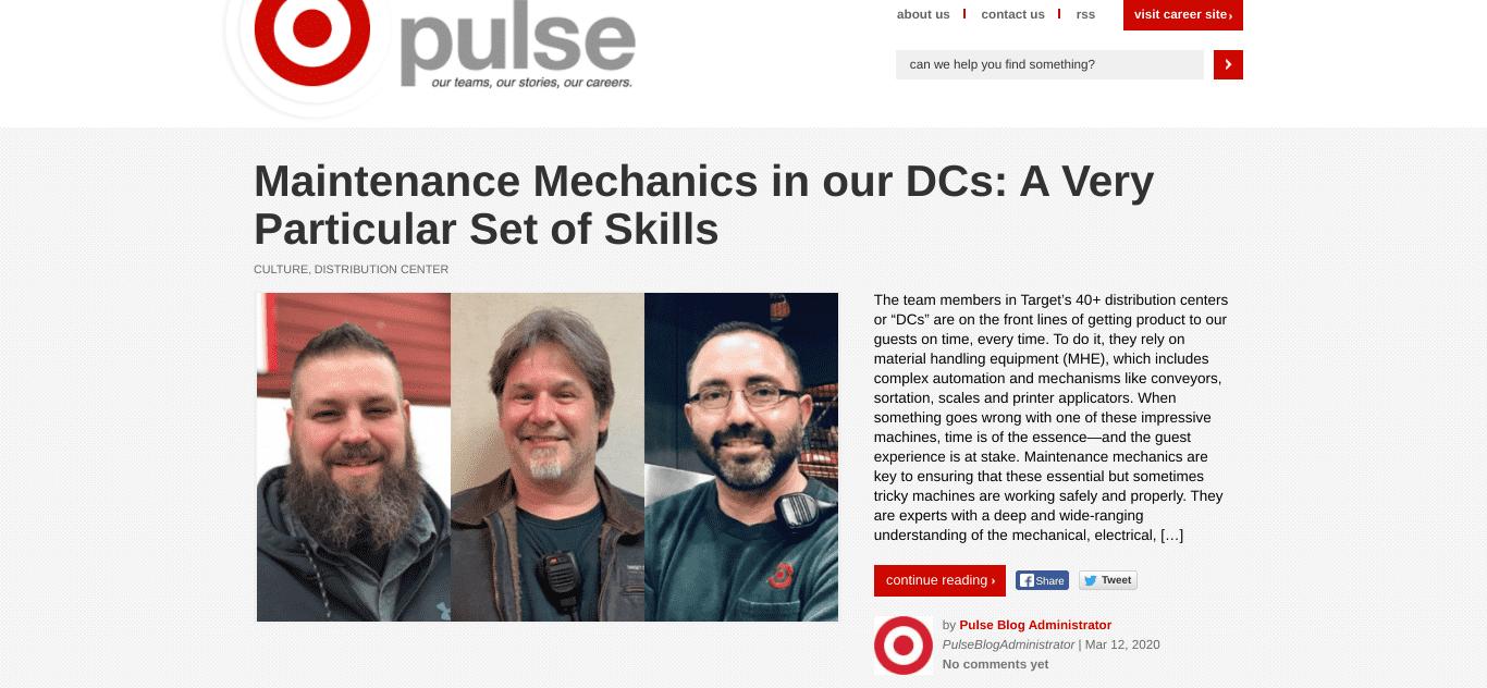 The Target Pulse Blog on WordPress.