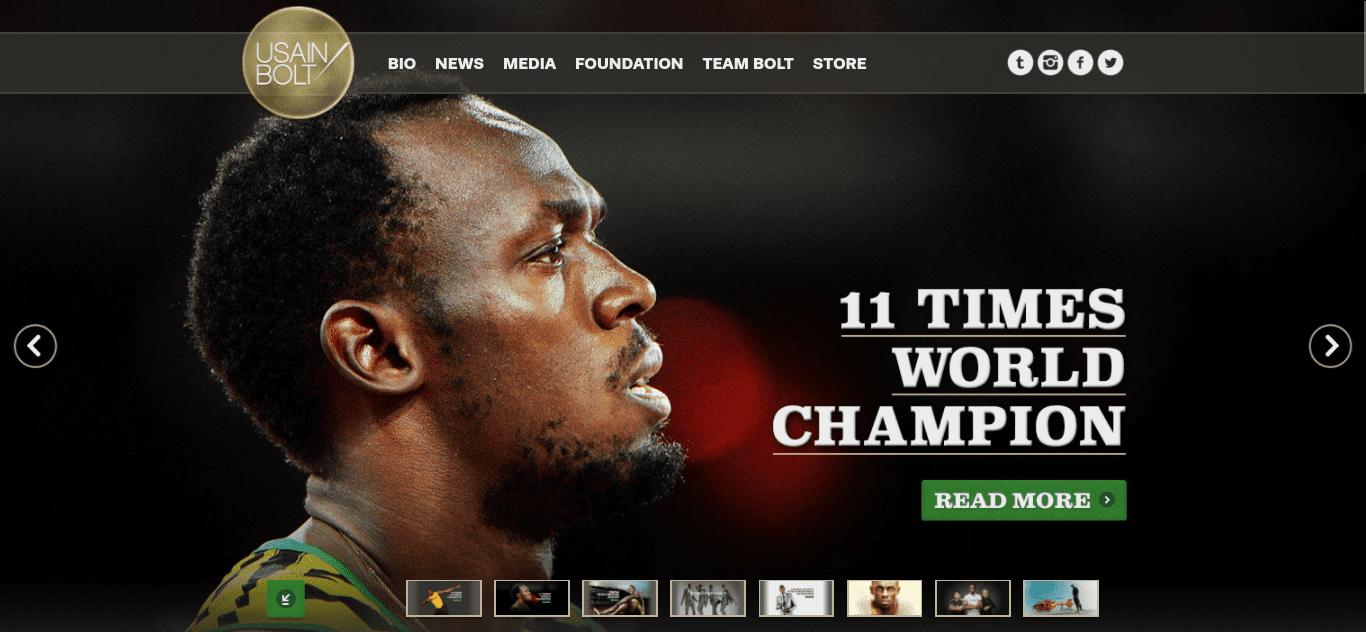 The Usain Bolt website.