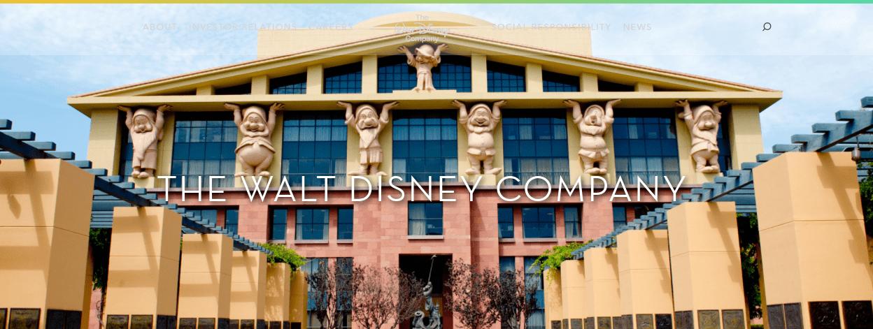 The Walt Disney Company website.