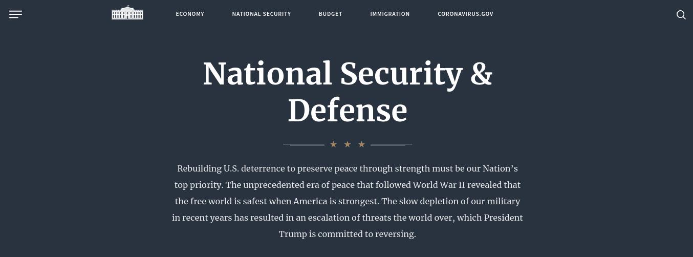 The White House website.
