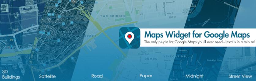 The Google Maps Widget plugin for WordPress.