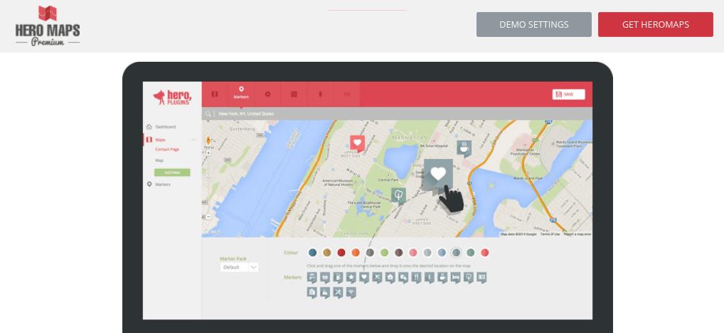 The Hero Maps Premium map plugin for WordPress.