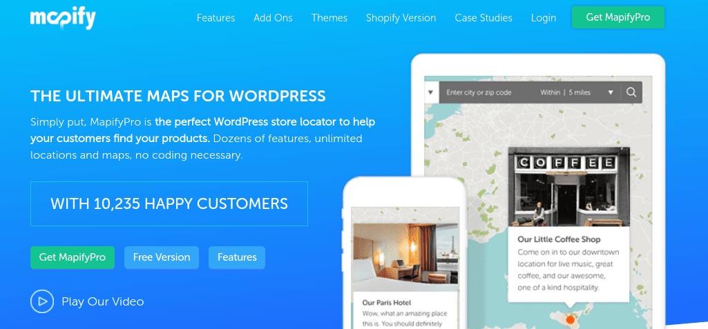 The MapifyPro WordPress map plugin.