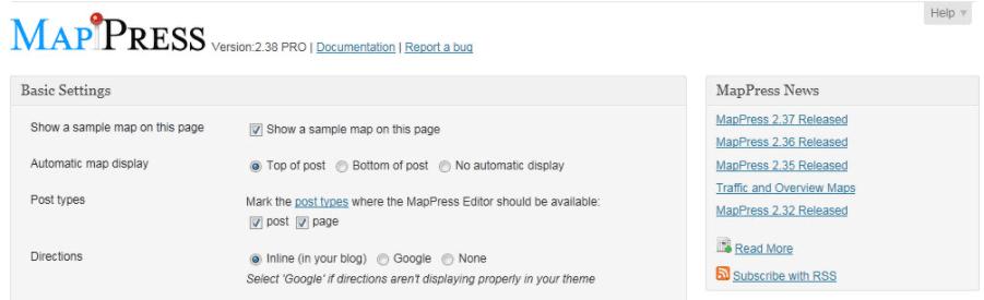The MapPress Pro WordPress map plugin.