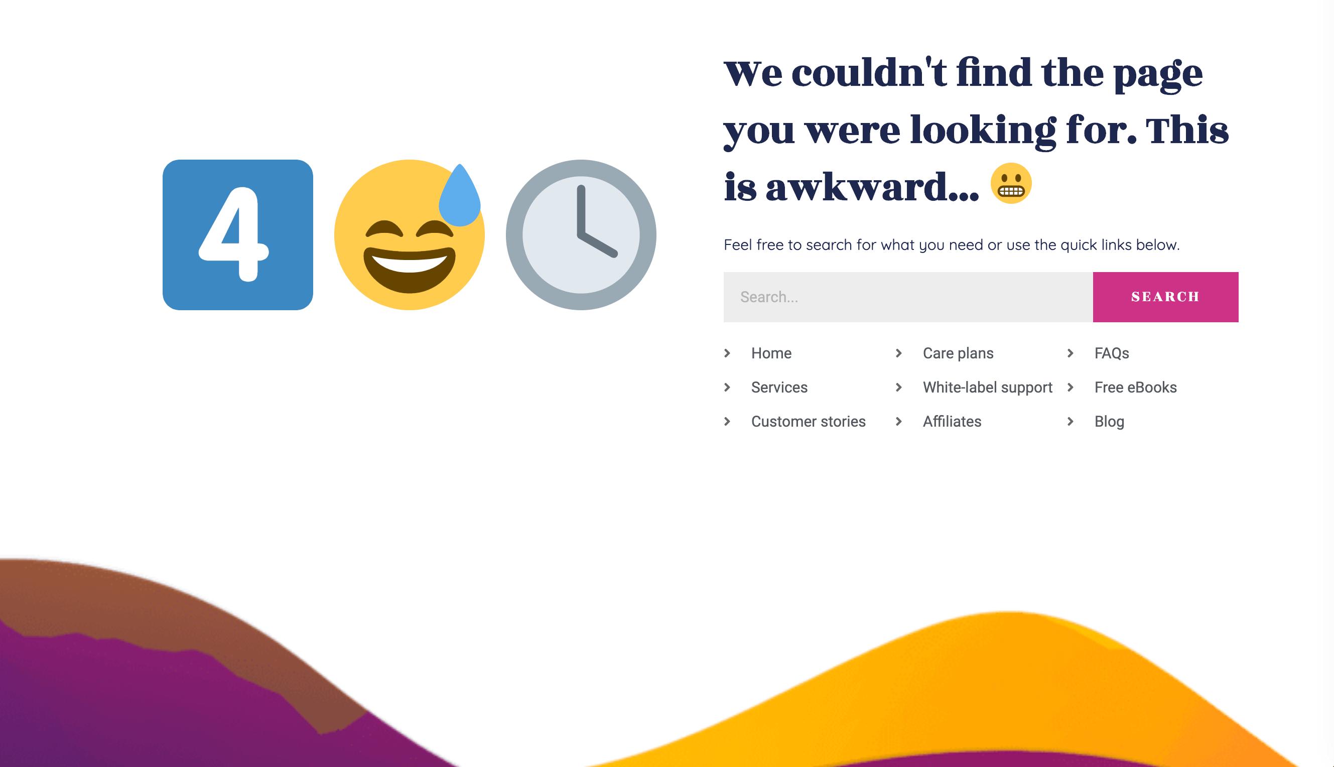 WP Buffs 404 page.