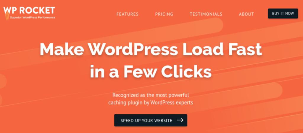 The WP Rocket WordPress plugin.
