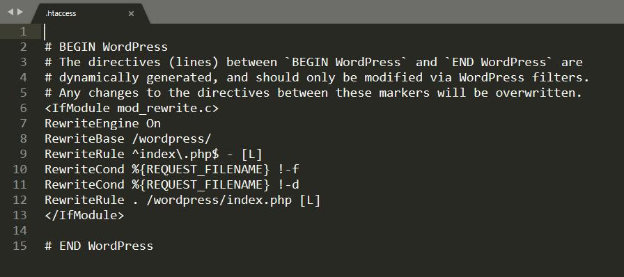 internal server error wordpress
