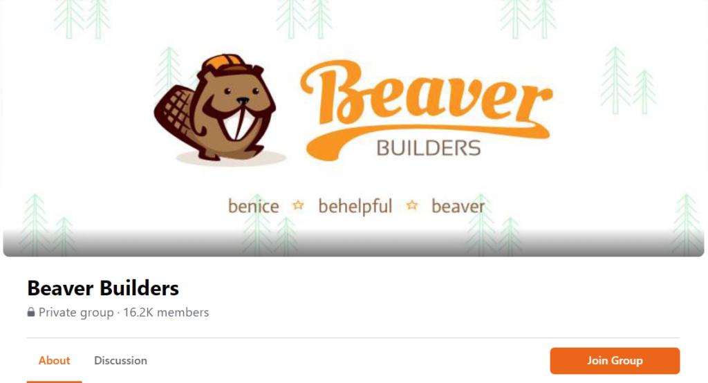 Screenshot of Beaver Builders Facebook Group