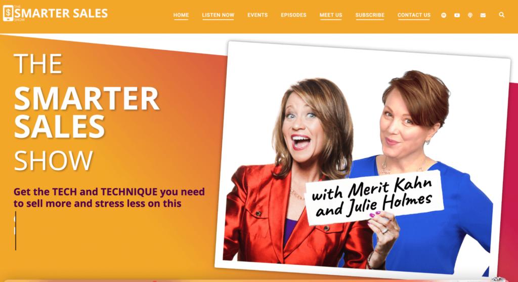 Smarter Sales podcast website example