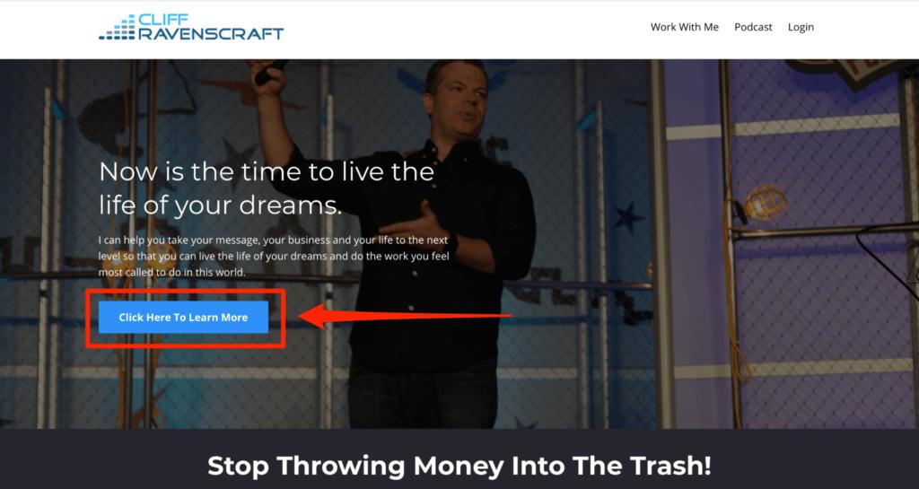 Cliff Ravenscraft podcast website example