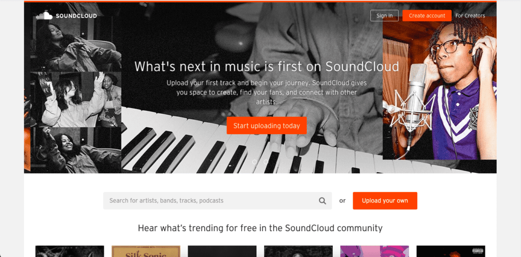 Soundcloud is built with WordPress
