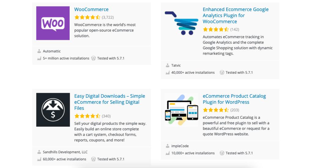 WooCommerce is the most popular WordPress ecommerce plugin